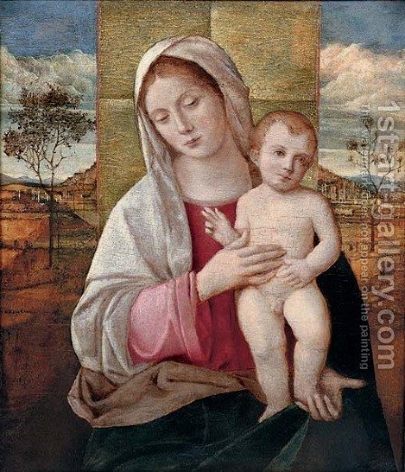 The Madonna and Child by (after) Giovanni Bellini - Reproduction Oil Painting