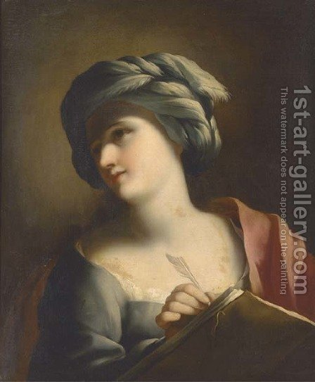 A Sibyl by (after) Giovanni Francesco Romanelli - Reproduction Oil Painting