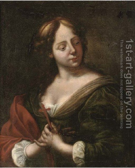 The Penitent Magdalen by (after) Giovanni Martinelli - Reproduction Oil Painting