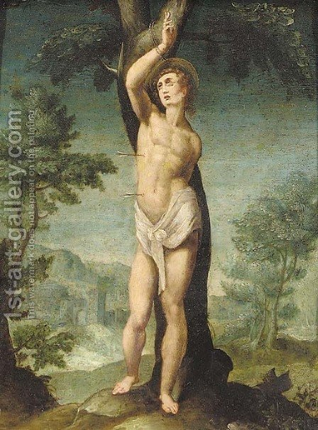 Saint Sebastian by (after) Useppe (d'Arpino) Cesari (Cavaliere) - Reproduction Oil Painting