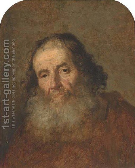 A bearded man by (after) Govert Teunisz. Flinck - Reproduction Oil Painting