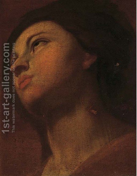 A sybil in reflection by (after) Guido Reni - Reproduction Oil Painting