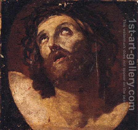 Christ crowned with thorns 2 by (after) Guido Reni - Reproduction Oil Painting