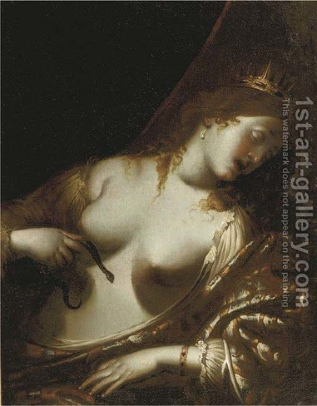 Cleopatra by (after) Guido Reni - Reproduction Oil Painting