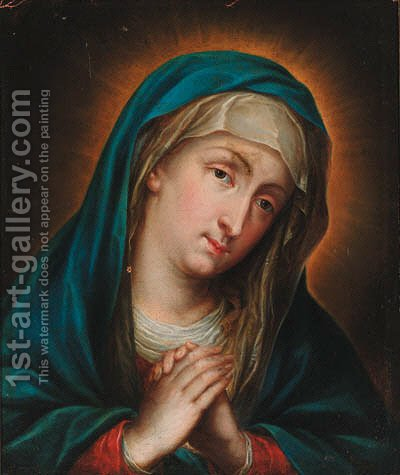 The Madonna at prayer by (after) Guido Reni - Reproduction Oil Painting