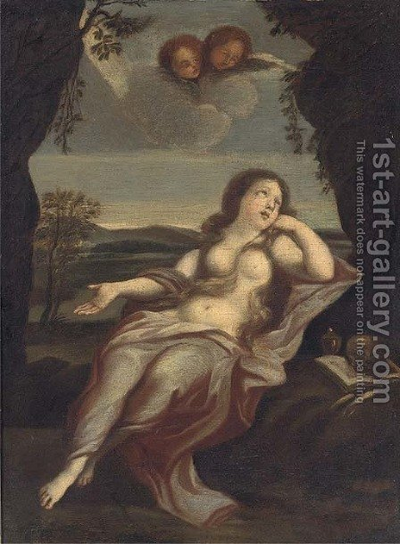The Penitent Magdalen 3 by (after) Guido Reni - Reproduction Oil Painting
