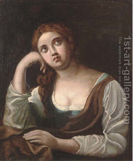 The Penitent Magdalen 4 by (after) Guido Reni - Reproduction Oil Painting