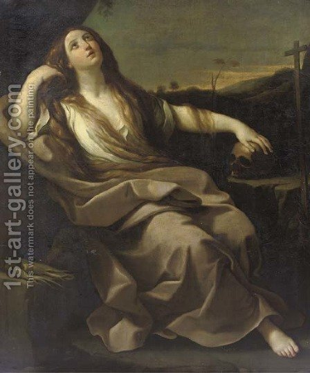 The Penitent Mary Magdalene by (after) Guido Reni - Reproduction Oil Painting