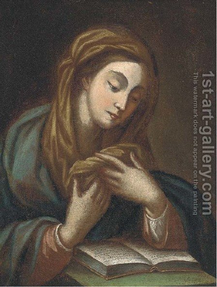 The Virgin reading by (after) Guido Reni - Reproduction Oil Painting