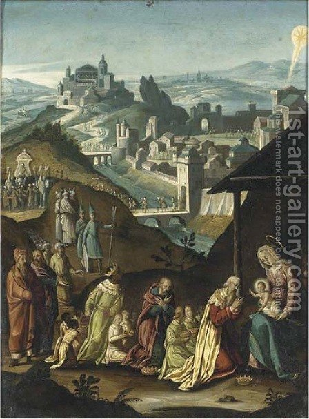 The Adoration of the Magi by (after) Hans I Rottenhammer - Reproduction Oil Painting