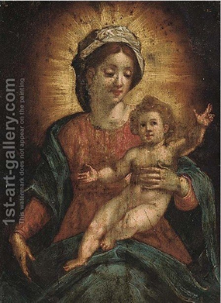 The Madonna Child by (after) Hans I Rottenhammer - Reproduction Oil Painting