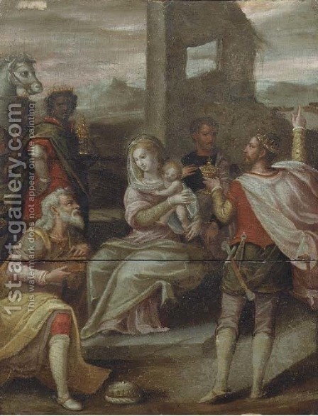 The Adoration of the Magi by (after) Hans Von Aachen - Reproduction Oil Painting