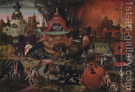 The Harrowing of Hell by (after) Hieronymus Bosch - Reproduction Oil Painting