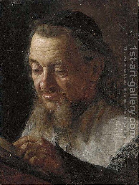 Portrait of a Rabbi by (after) Isidor Kaufmann - Reproduction Oil Painting