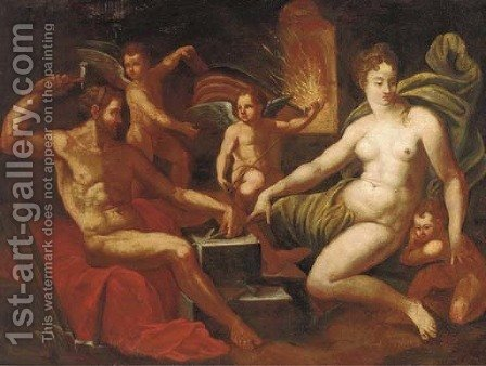 Venus at the Forge of Vulcan by (after) Jacob De Backer - Reproduction Oil Painting