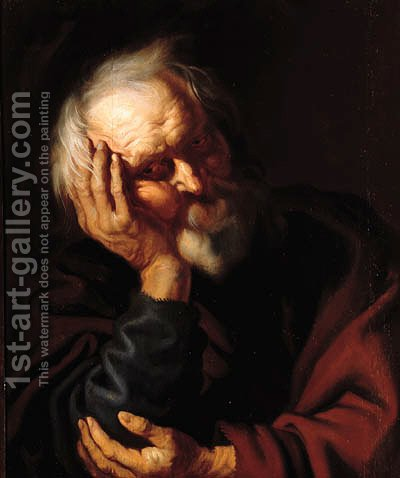 An Apostle by (after) Jacob Jordaens - Reproduction Oil Painting