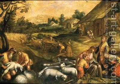 The Four Seasons by (after) Jacopo Bassano (Jacopo Da Ponte) - Reproduction Oil Painting