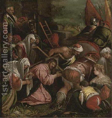 The Road to Calvary by (after) Jacopo Bassano (Jacopo Da Ponte) - Reproduction Oil Painting