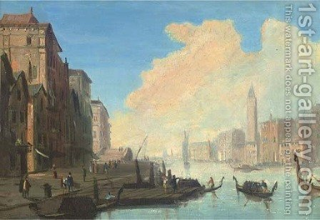 The Grand Canal, Venice by (after) James Baker Pyne - Reproduction Oil Painting