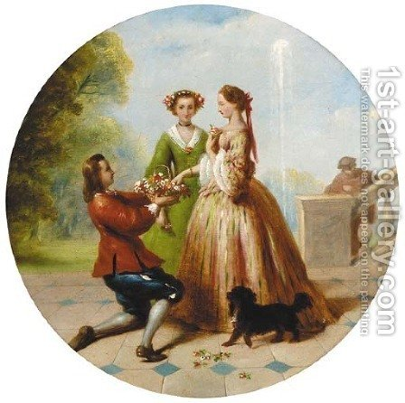 The Suitor by (after) James Digman Wingfield - Reproduction Oil Painting