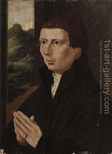 Portrait of a young man by (after) Jan (Mabuse) Gossaert - Reproduction Oil Painting