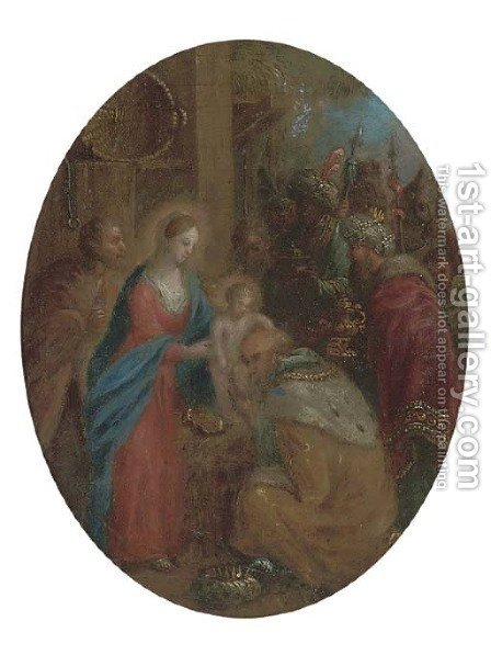 The Adoration of the Magi 2 by (after) Jan Van Balen - Reproduction Oil Painting