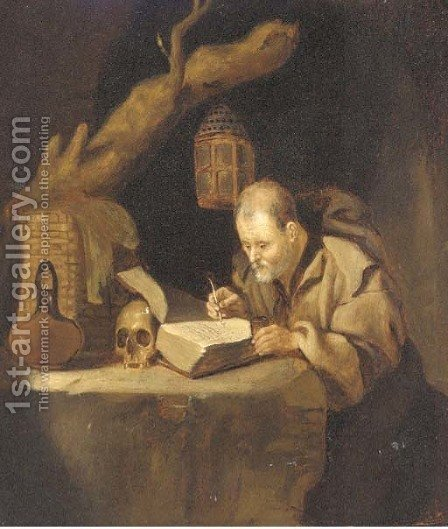 Saint Jerome by (after) Jan Adriansz Van Staveren - Reproduction Oil Painting