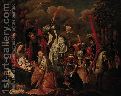 The Adoration of the Magi by (after) Jean Baptiste De Saive - Reproduction Oil Painting