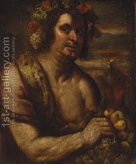 Bacchus by (after) Johann Karl Loth - Reproduction Oil Painting