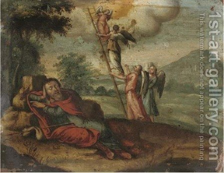 Jacob's Dream by (after) Johann Rottenhammer - Reproduction Oil Painting