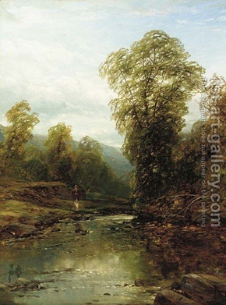 Near Matlock by (after) John Brandon Smith - Reproduction Oil Painting