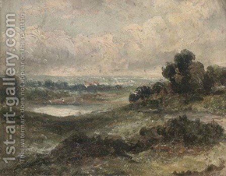 Hampstead Heath by (after) Constable, John - Reproduction Oil Painting