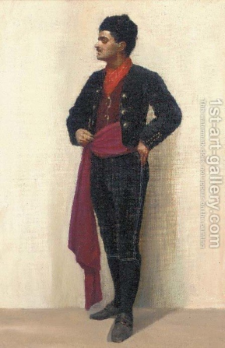 A matador by (after) John Phillip - Reproduction Oil Painting