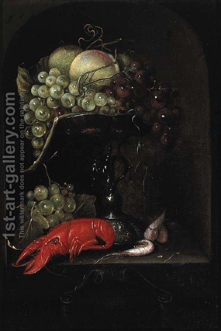 Still life 2 by (after) Joris Van Son - Reproduction Oil Painting