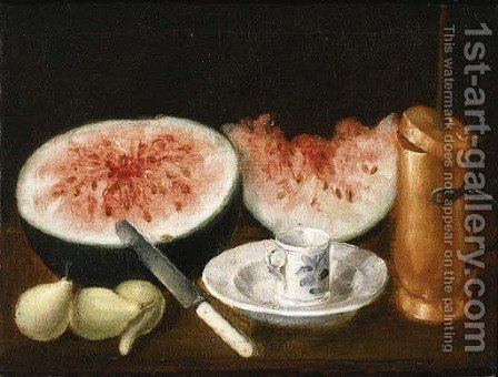 Watermelons by (after) Jose Lopez Enquilla - Reproduction Oil Painting