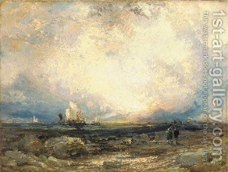 Shipping at dust by (after) Joseph Mallord William Turner - Reproduction Oil Painting