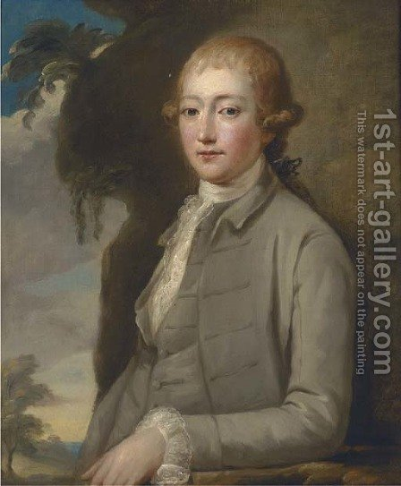 Portrait of Edmund Townley (1714-1796) of Royle Hall, Burnley by (after) Josepf Wright Of Derby - Reproduction Oil Painting