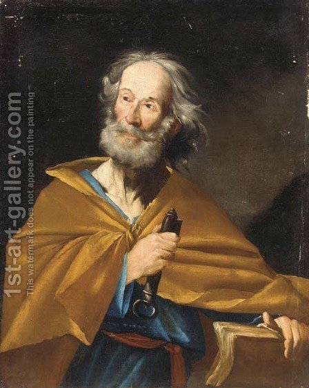 Saint Peter 2 by (after) Jusepe De Ribera - Reproduction Oil Painting