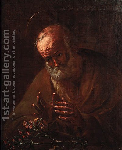 Saint Peter 3 by (after) Jusepe De Ribera - Reproduction Oil Painting