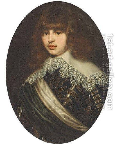 Portrait of Waldemar Christian of Denmark by (after) Justus Sustermans - Reproduction Oil Painting