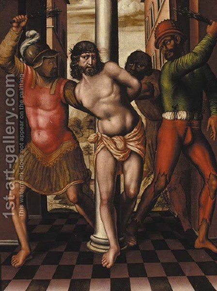 The Flagellation by (after) Lambert Lombard - Reproduction Oil Painting