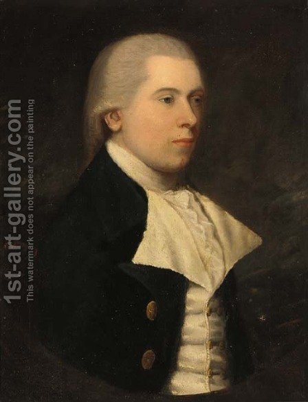 Portrait of a gentleman 2 by (after) Lemuel-Francis Abbott - Reproduction Oil Painting