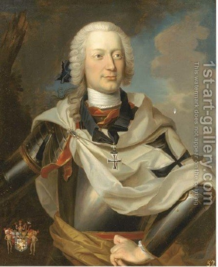 Portrait of a nobleman by (after) Louis De Silvestre - Reproduction Oil Painting