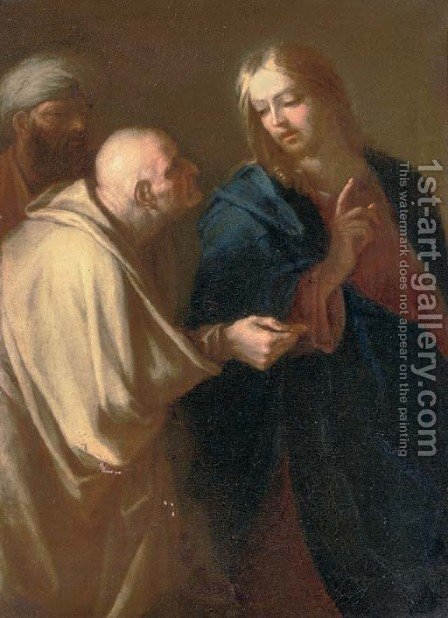The Tribute Money by (after) Luca Giordano - Reproduction Oil Painting