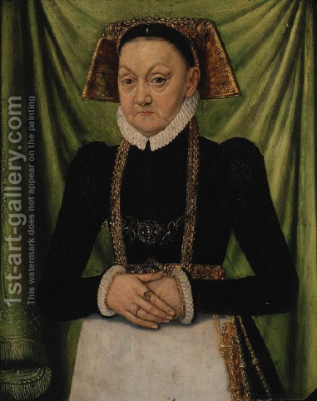 Portrait of a Lady by (after) Ludger Tom The Younger Ring - Reproduction Oil Painting