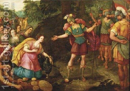 The Continence of Scipio by (after) Maerten De Vos - Reproduction Oil Painting