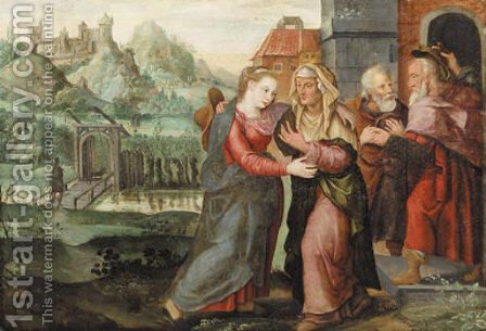 The Visitation by (after) Maerten De Vos - Reproduction Oil Painting