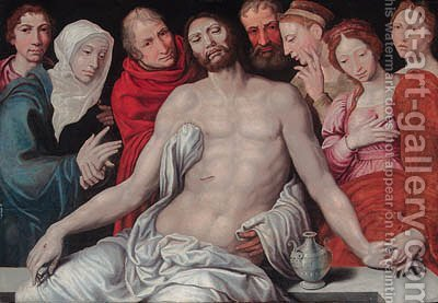 The Entombment by (after) Maerten Van Heemskerck - Reproduction Oil Painting