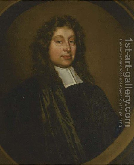 Portrait of a clergyman by (after) Mary Beale - Reproduction Oil Painting