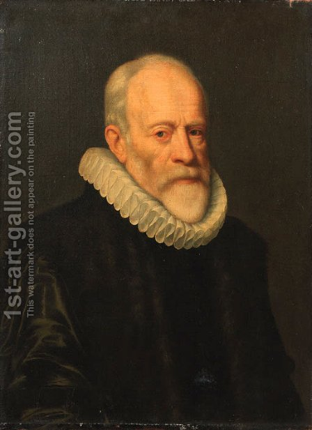Portrait of Johan van Oldebarneveldt (1547-1619) by (after) Michiel Jansz. Van Miereveldt - Reproduction Oil Painting